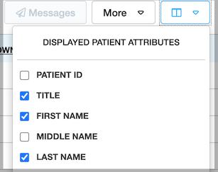 Dentally Patients Report Displayed Patient attributes