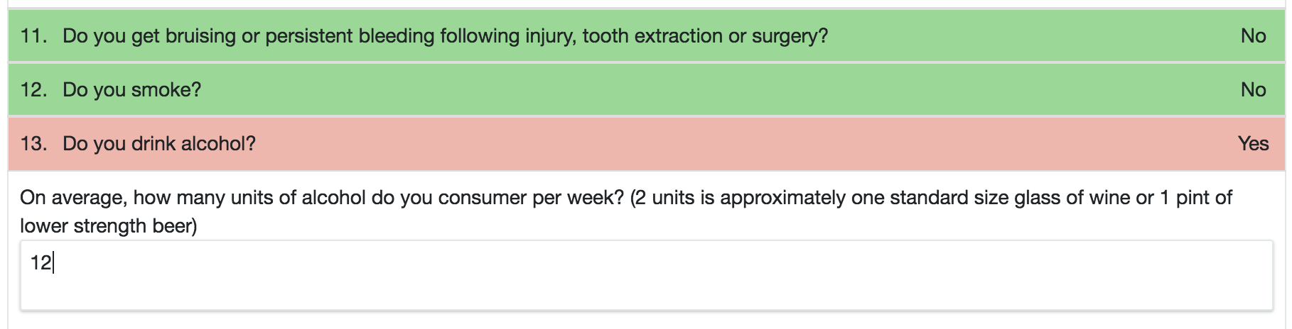 Medical History Question