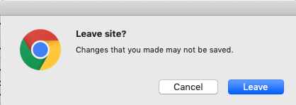 Leave Site Screenshot