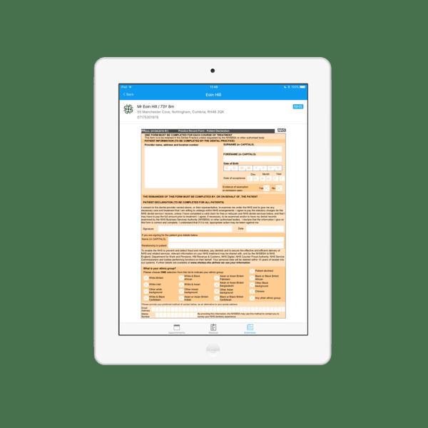 iPad App from Dentally